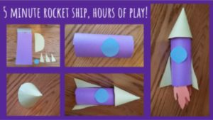 easy space crafts toilet paper roll rocket ship