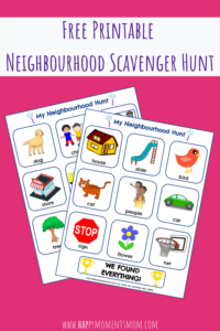 Button to Download Free Printable Neighbourhood Scavenger Hunt