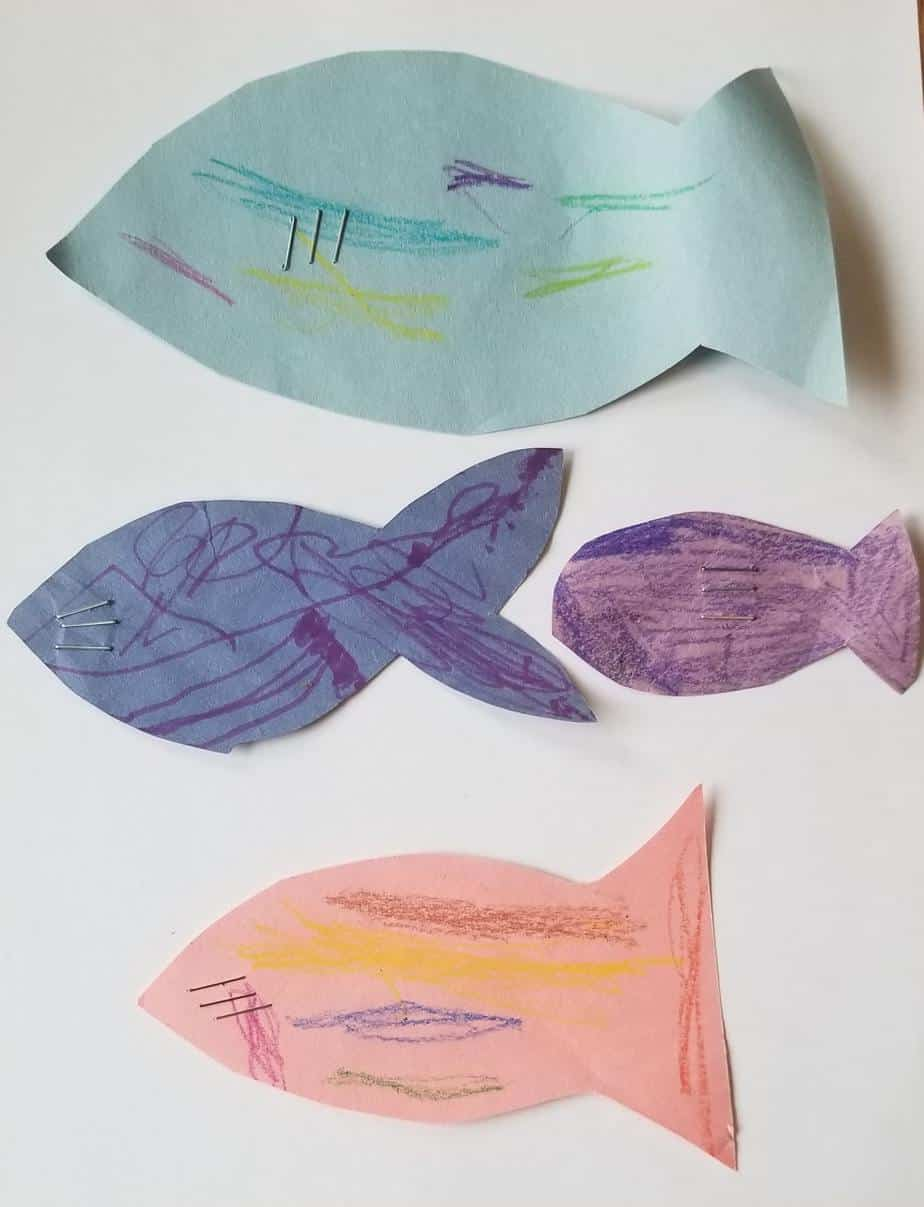 construction paper fish for toddler fishing game