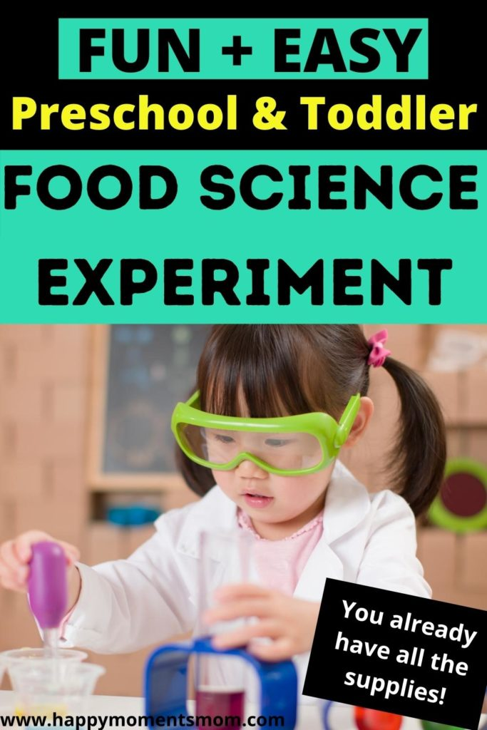 toddler doing a science experiment